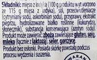 Kiełbasa Żywiecka z indyka - Składniki - pl