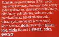 Szynka eksportowa - Ingrédients - pl