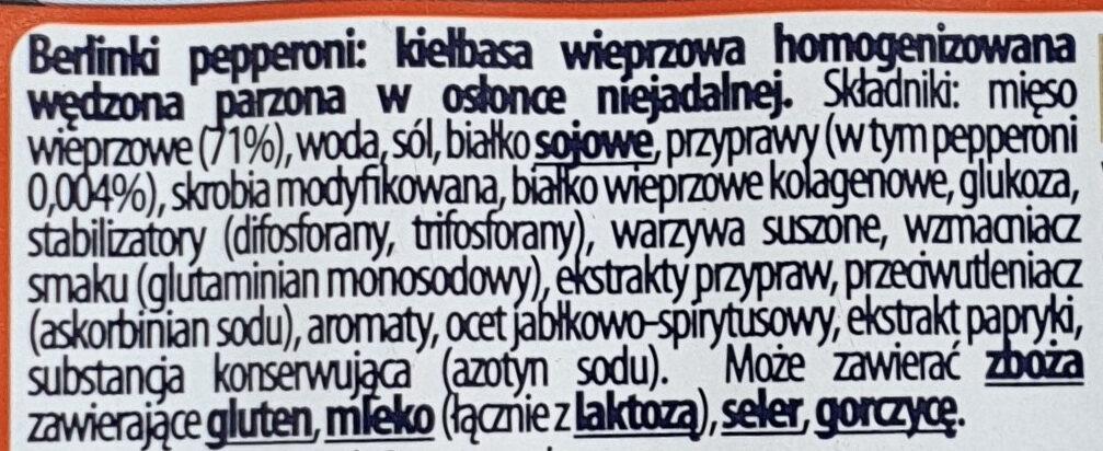 Berlinki pepperowni - Składniki - pl