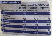 Śliwki suszone - Informations nutritionnelles - pl