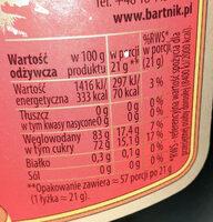 Sądecki Bartnik - Miód gryczany - Informations nutritionnelles - pl