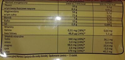 Oat cookies classic - Informations nutritionnelles - pl