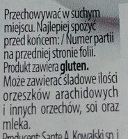 Płatki owsiane-górskie błyskawiczne - Składniki - pl
