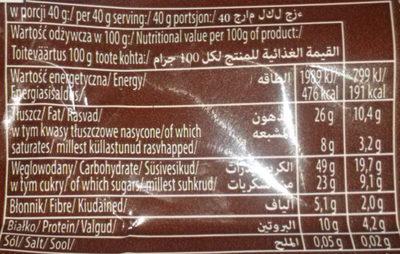 Sante Crunchy Nut & Almond - Wartości odżywcze