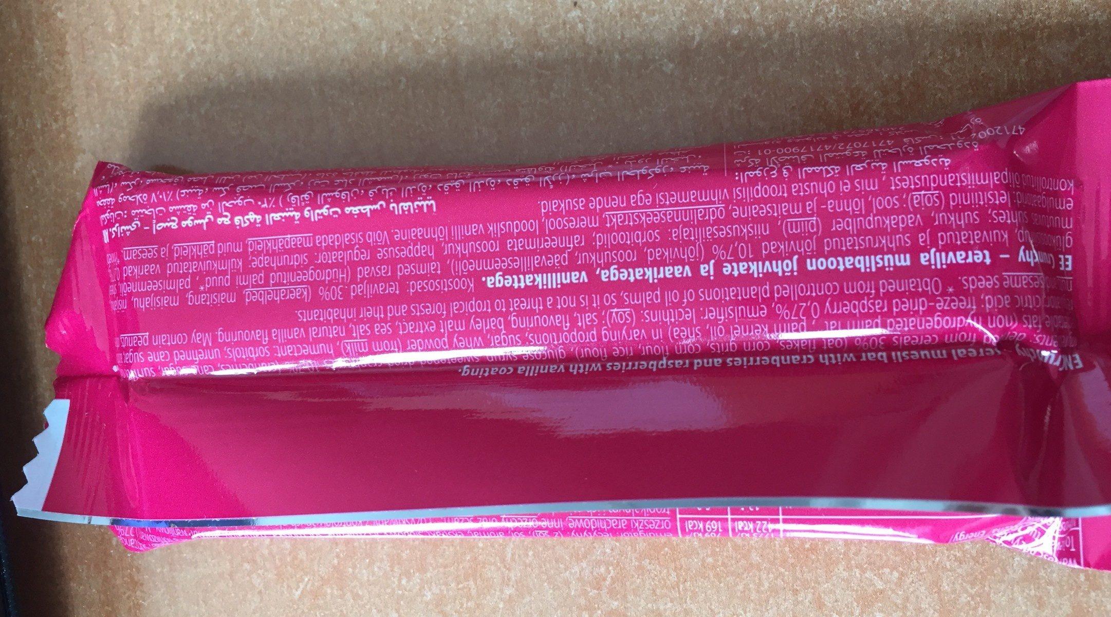 Sante Crunchy Museli Cranberry & Raspberry Bar - Ingrediënten - fr