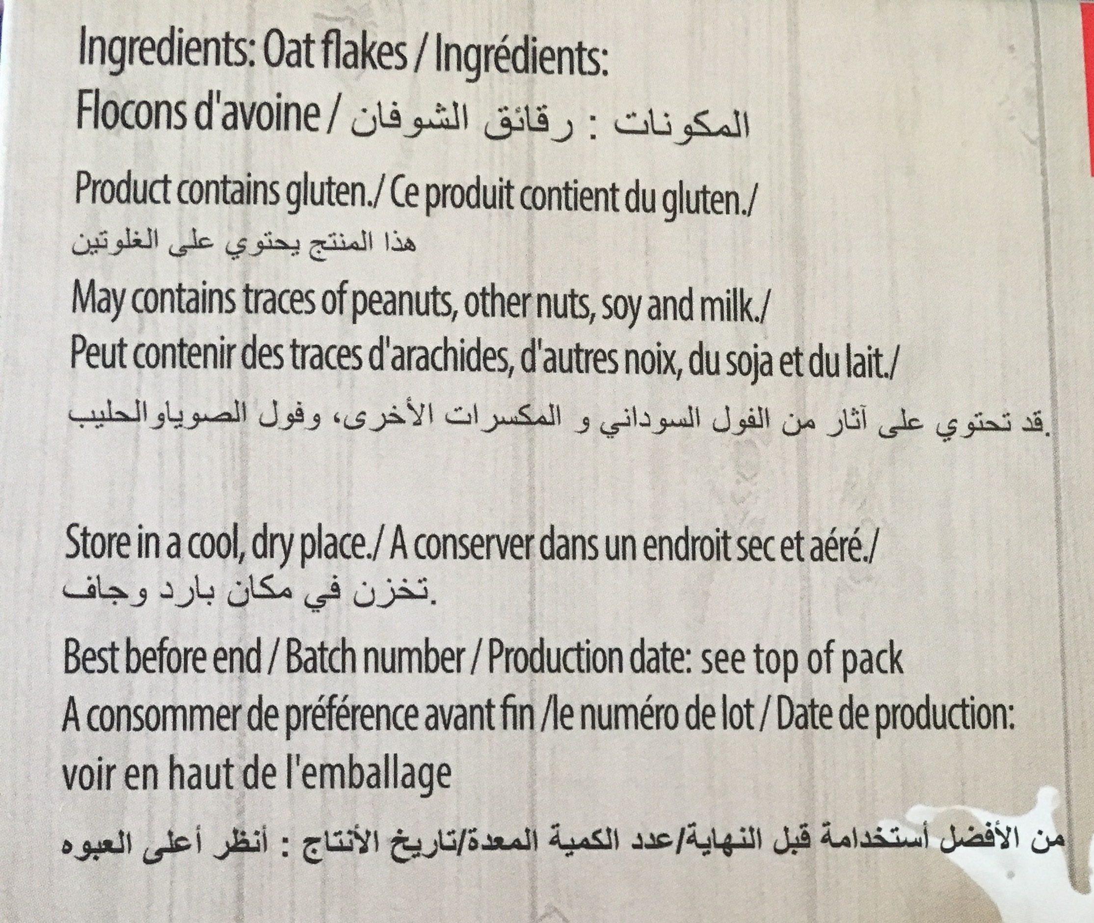 Oatflakes - Ingrediënten