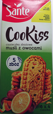 Ciasteczka zbożowe musli z owocami. - Produkt - pl