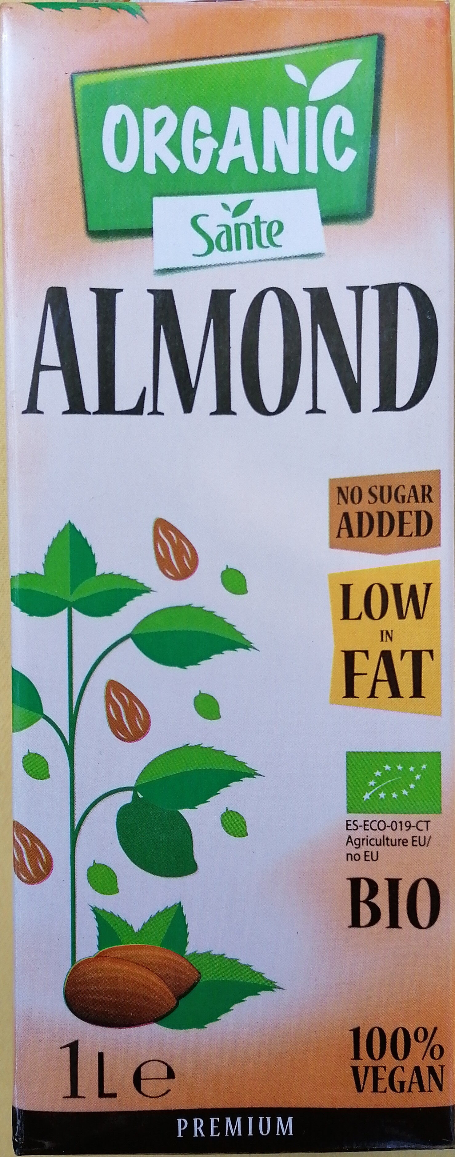 Almond drink organic UHT - Produktas - lt