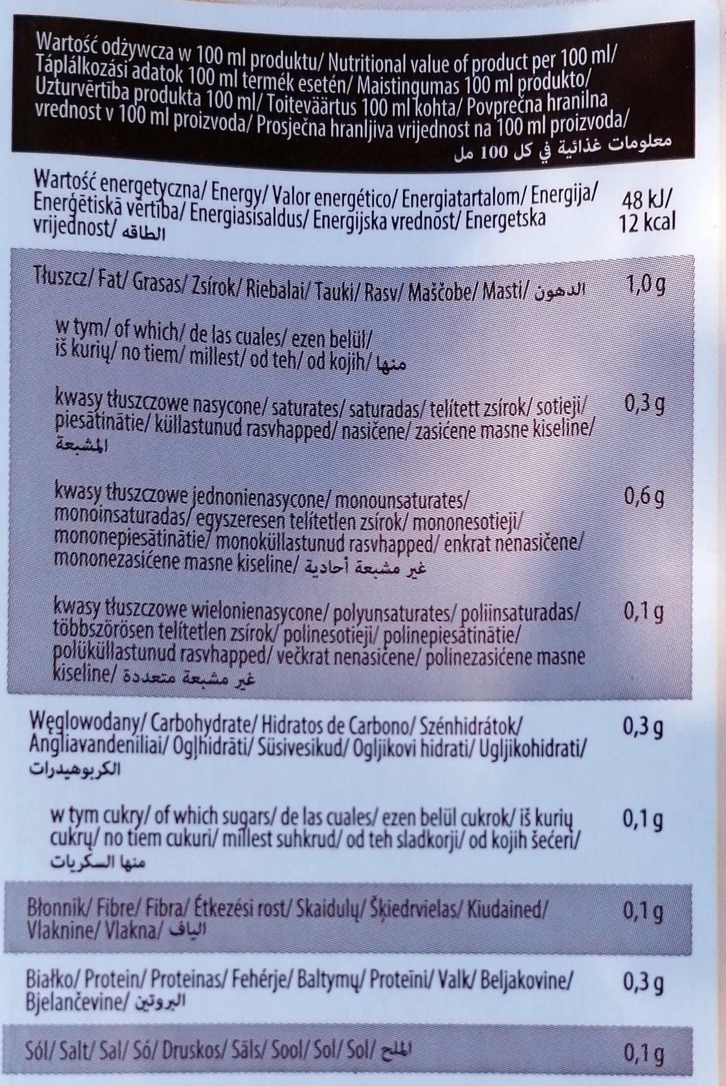 Almond drink organic UHT - Wartości odżywcze - pl