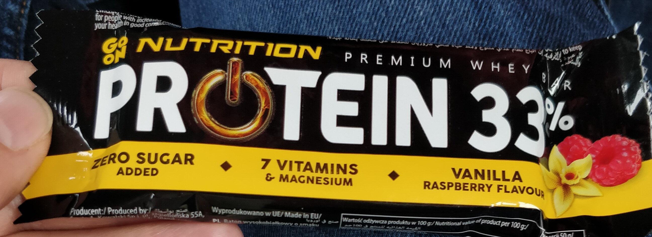 Baton proteinowy 33% wanilia malina - Produkt