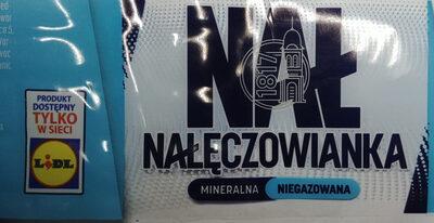 Woda mineralna niegazowana - Produkt