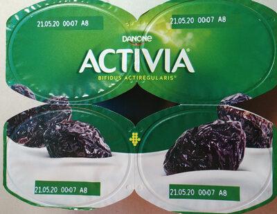 Jogurt z świeżymi śliwkami ze szczepem bakterii ActiRegularis - Produkt - pl