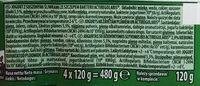 Jogurt z świeżymi śliwkami ze szczepem bakterii ActiRegularis - Składniki - pl