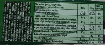 Jogurt z świeżymi śliwkami ze szczepem bakterii ActiRegularis - Wartości odżywcze - pl
