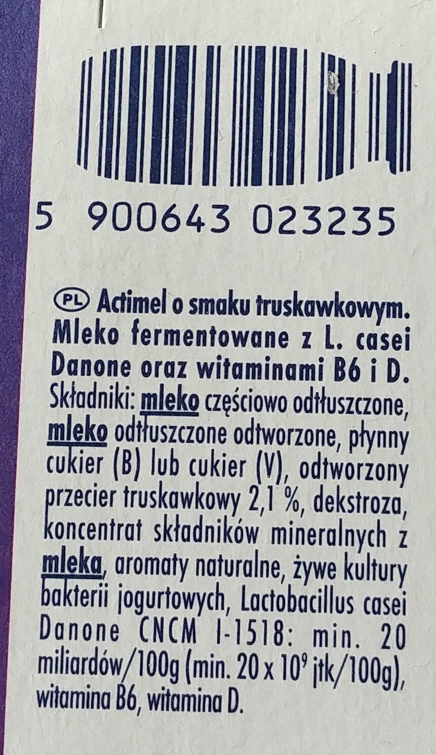 Actimel fraise - Składniki - pl