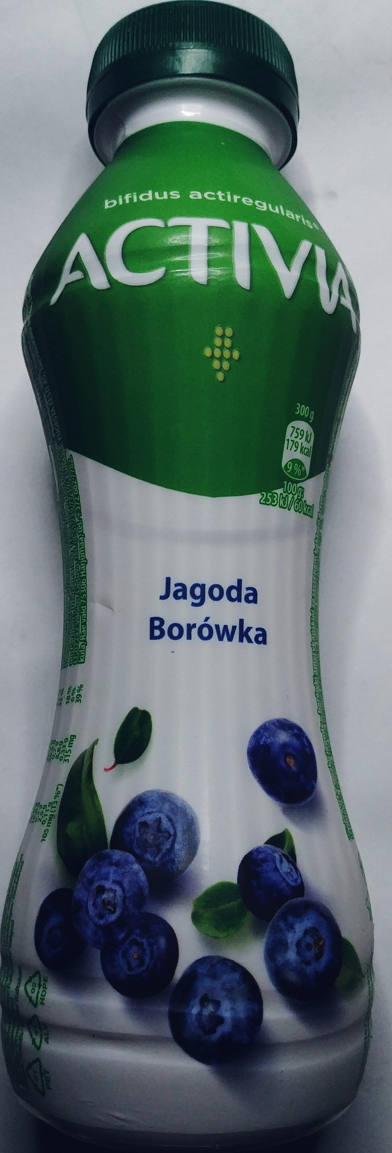 Jogurt o smaku jagody - borówki amerykańskiej ze szczepem bakterii ActiRegularis - Product