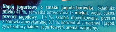 Napój jogurtowy o smaku jagoda-borówka - Ingrediënten - pl