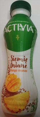 Jogurt o smaku ananas-mango z nasionami i zbożami oraz szczepem bakterii ActiRegularis - Produkt
