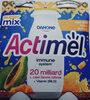 Mleko fermentowane z L. casei Danone oraz witaminami B6 i D. Actimel o smaku papaja-miód-propolis. - Product
