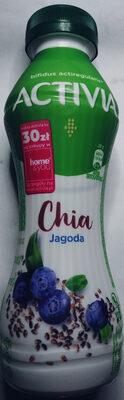 Jogurt o smaku jagodowym z chia oraz szczepem bakterii ActiRegularis - Produkt - pl