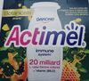 Mleko fermentowane z L. casei Danone oraz witaminami B6 i D. Actimel o smaku papaja-miód-mięta. - Produkt