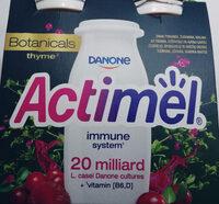 Actimel o smaku żurawina-malina-tymianek - Produkt - pl