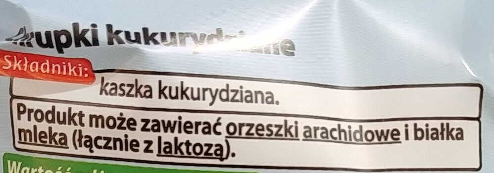 Chrupki kukurydziane - Składniki - pl