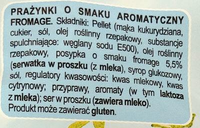 Prażynki o smaku aromatyczny fromage - Inhaltsstoffe - pl