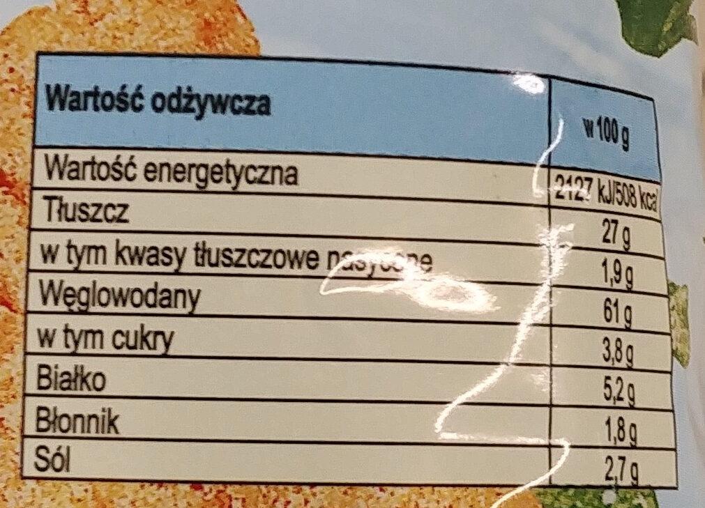 Prażynki o smaku aromatyczny fromage - Nährwertangaben - pl