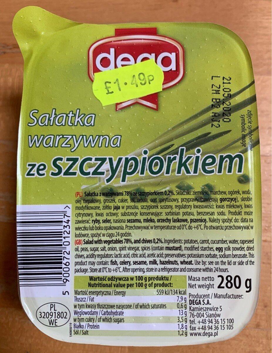 Salatka warzywna ze szczypiorkiem - Product - pl