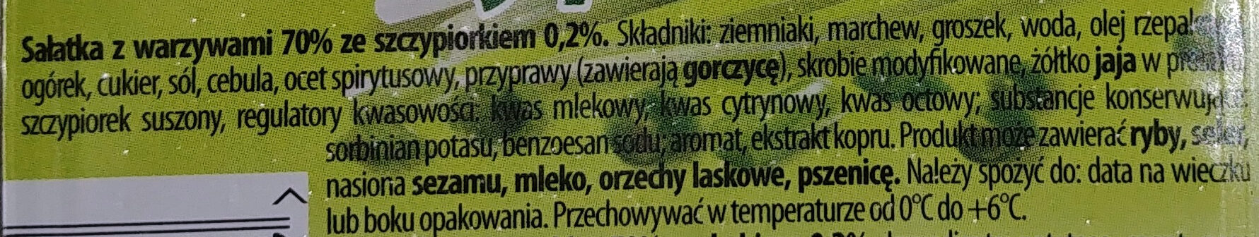 Salatka warzywna ze szczypiorkiem - Ingredients - pl
