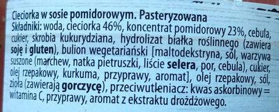 Cieciorka w sosie pomidorowym - Składniki - pl