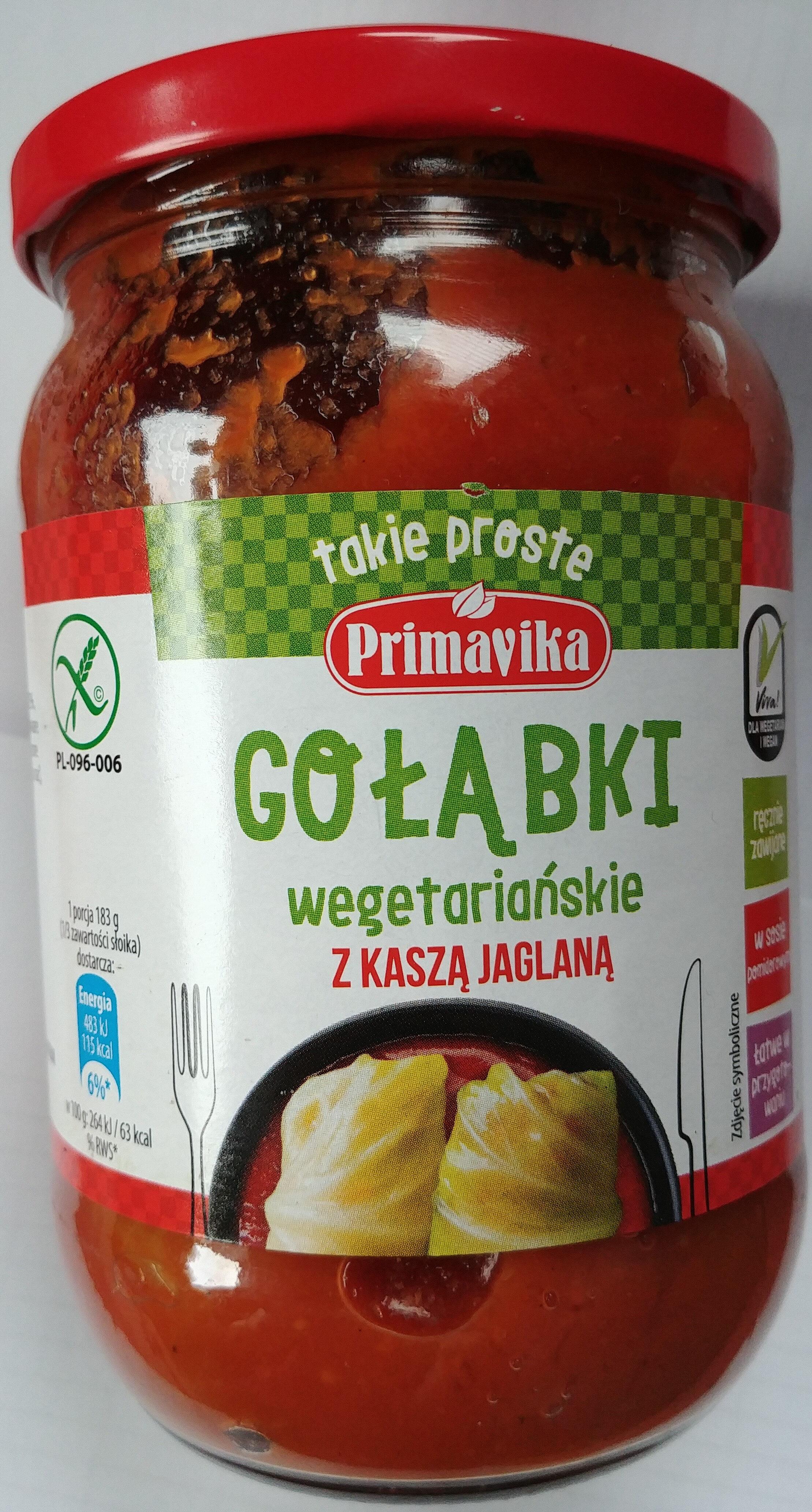 Gołąbki wegetariańskie z kaszą jaglaną - Produit - pl