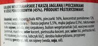 Gołąbki wegetariańskie z kaszą jaglaną - Ingrédients - pl