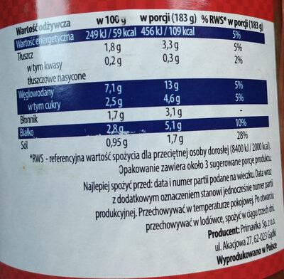 Gołąbki wegetariańskie z ryżem i pieczarkami w sosie pomidorowym (45%) - Wartości odżywcze