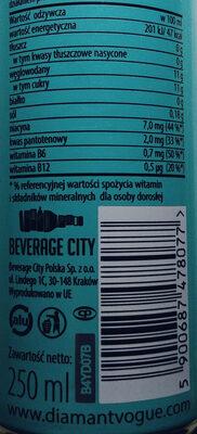Impression energy drink - Wartości odżywcze