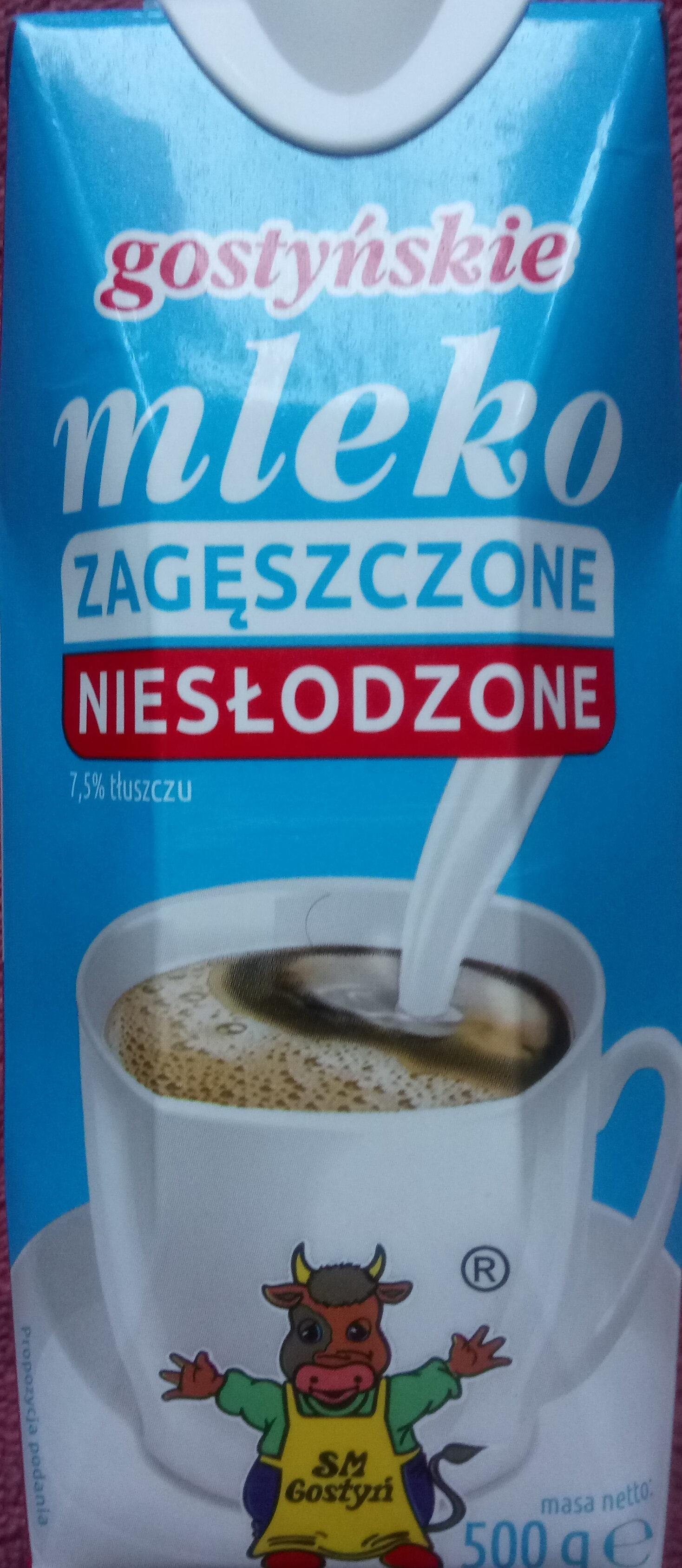 Mleko zagęszczone niesłodzone 7,5% tłuszczu - Produkt - pl