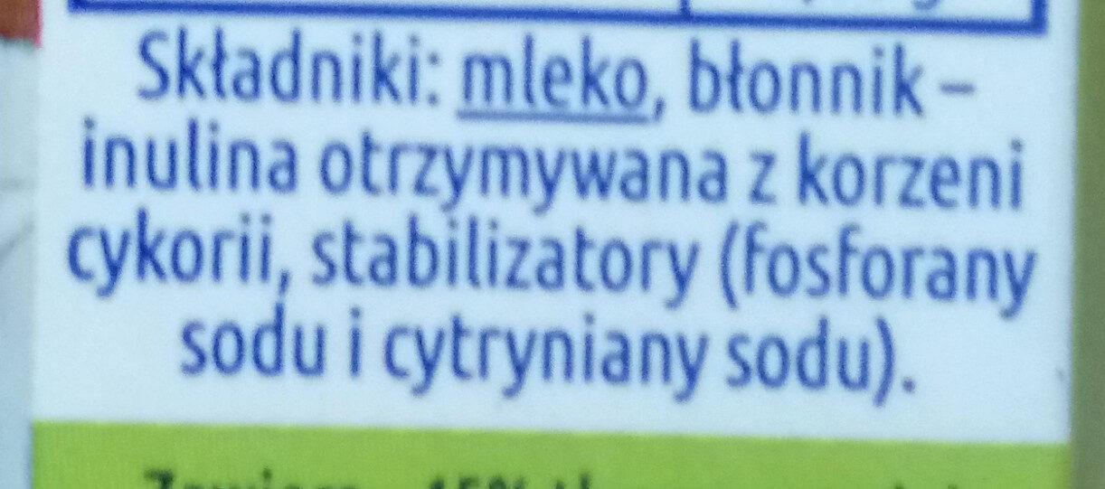 Mleko zagęszczone niesłodzone częściowo odtłuszczone z błonnikiem - Składniki - pl