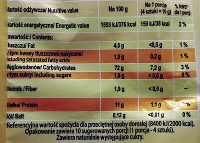 Biszkopty wrocławskie - Wartości odżywcze - pl