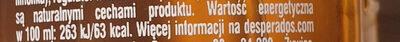 Beer flavoured with tequilla, mint & lime - Wartości odżywcze - pl