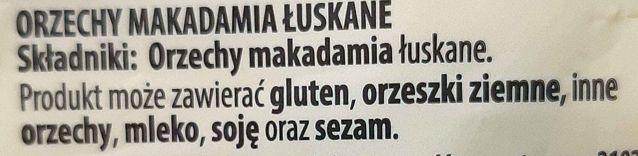 Orzechy makadamia łuskane - Ingredients - pl