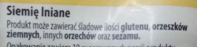 Siemię lniane - Składniki - pl