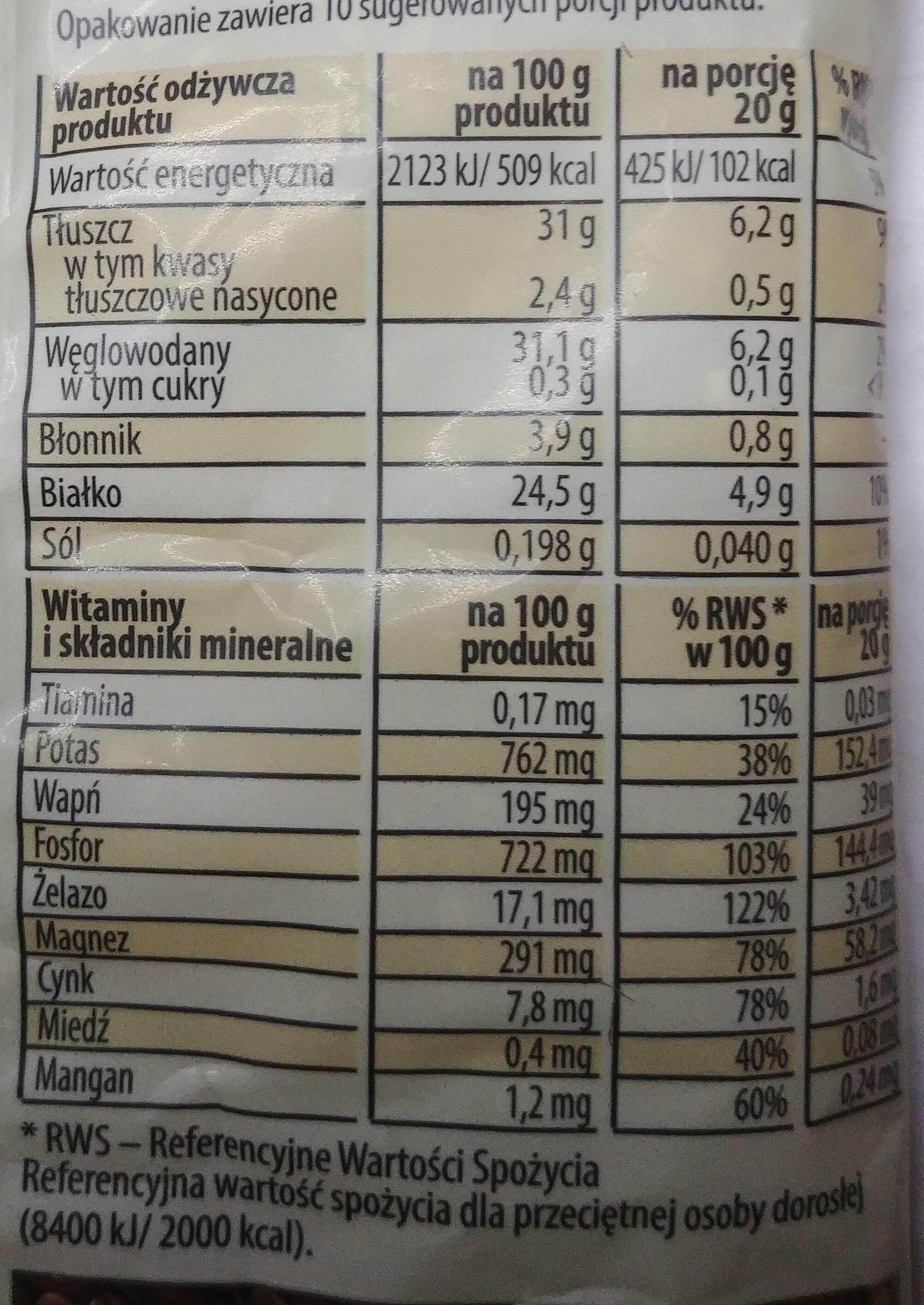 Siemię lniane - Wartości odżywcze