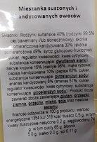 Mieszanka suszonych i kandyzowanych owoców - Ingrediënten - pl