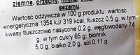 Mieszanka suszonych i kandyzowanych owoców - Voedingswaarden - pl