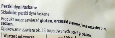 Pestki dyni - Ingrediënten - pl