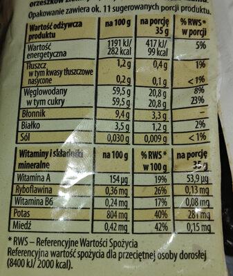 Śliwki suszone bez pestek - Wartości odżywcze