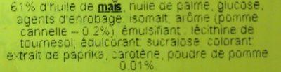 Popcorn pomme cannelle - Ingrediënten