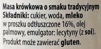 Kajmak - Masa krówkowa o smaku tradycyjnym - Ingredients - pl