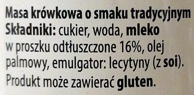 Kajmak - Masa krówkowa o smaku tradycyjnym - Ingredients